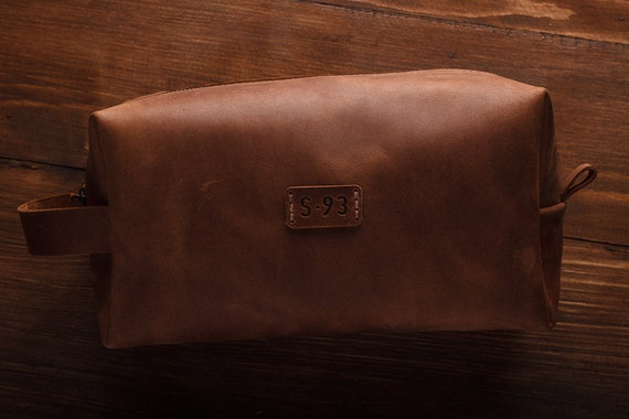 Leather Travel Bag Leather Dopp Kit Groomsmen Gift Leather   Etsy 72aeaef3a7
