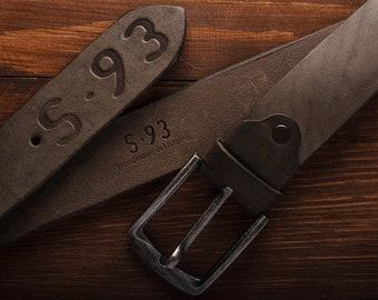 Vintage Brown leather Belt 17