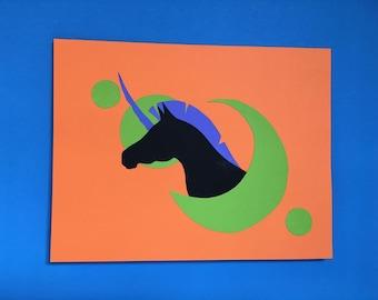 Black Crescent Moon Unicorn