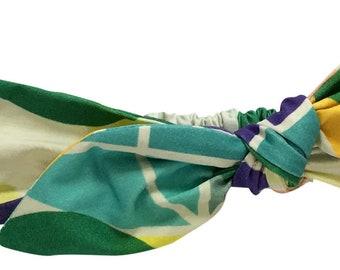 Tied Headwrap - Oversized TriDot