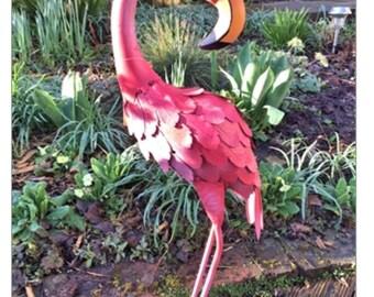 Felicity the Metal Flamingo 57cm