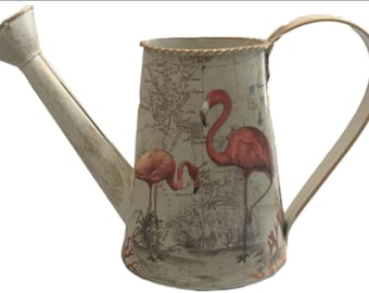 Antique Maps Flamingo Watering Can 25cm