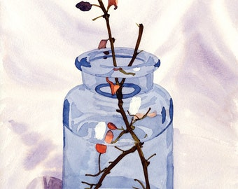 Painting, Fall Twig in Bottle