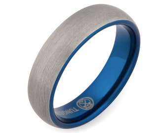The Blue Steel- Mens Wedding Band | Mens Engagement Ring | Mens Wedding Ring | Promise Ring for Him | Mens Promise Ring | Wedding Band