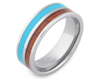 The Surfer -Mens Wedding Band | Mens Engagement Ring | Mens Wedding Ring | Promise Rings for Him | Mens Promise Ring | Wedding Band for Men