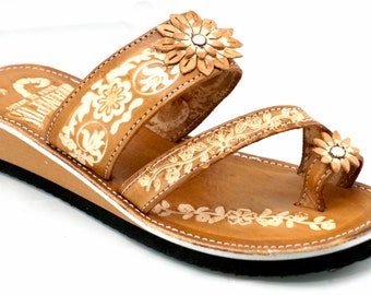 dfe7743c4e2af Womens Mexican Handmade Leather Huaraches Sandals Sandalias Piel Mujer  Mexicano Sahuayo Mexico Dedo