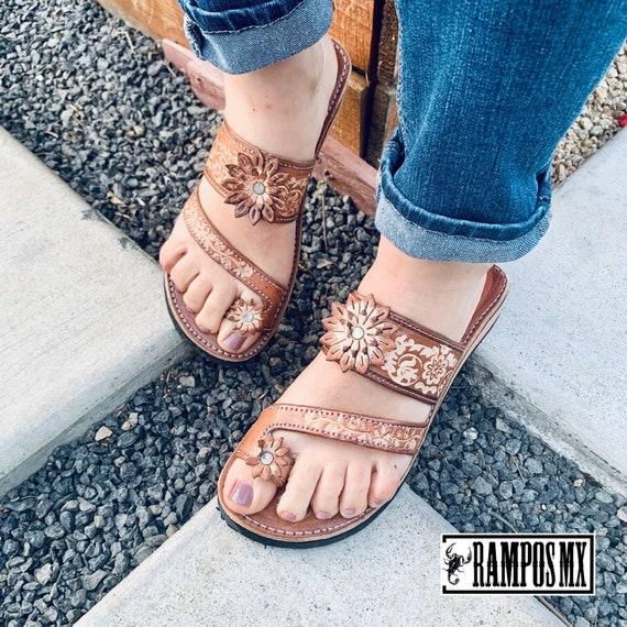 Womens Mexican Handmade Leather Huaraches Sandals Sandalias Piel Mujer  Mexicano Sahuayo Mexico Dedo NATURAL