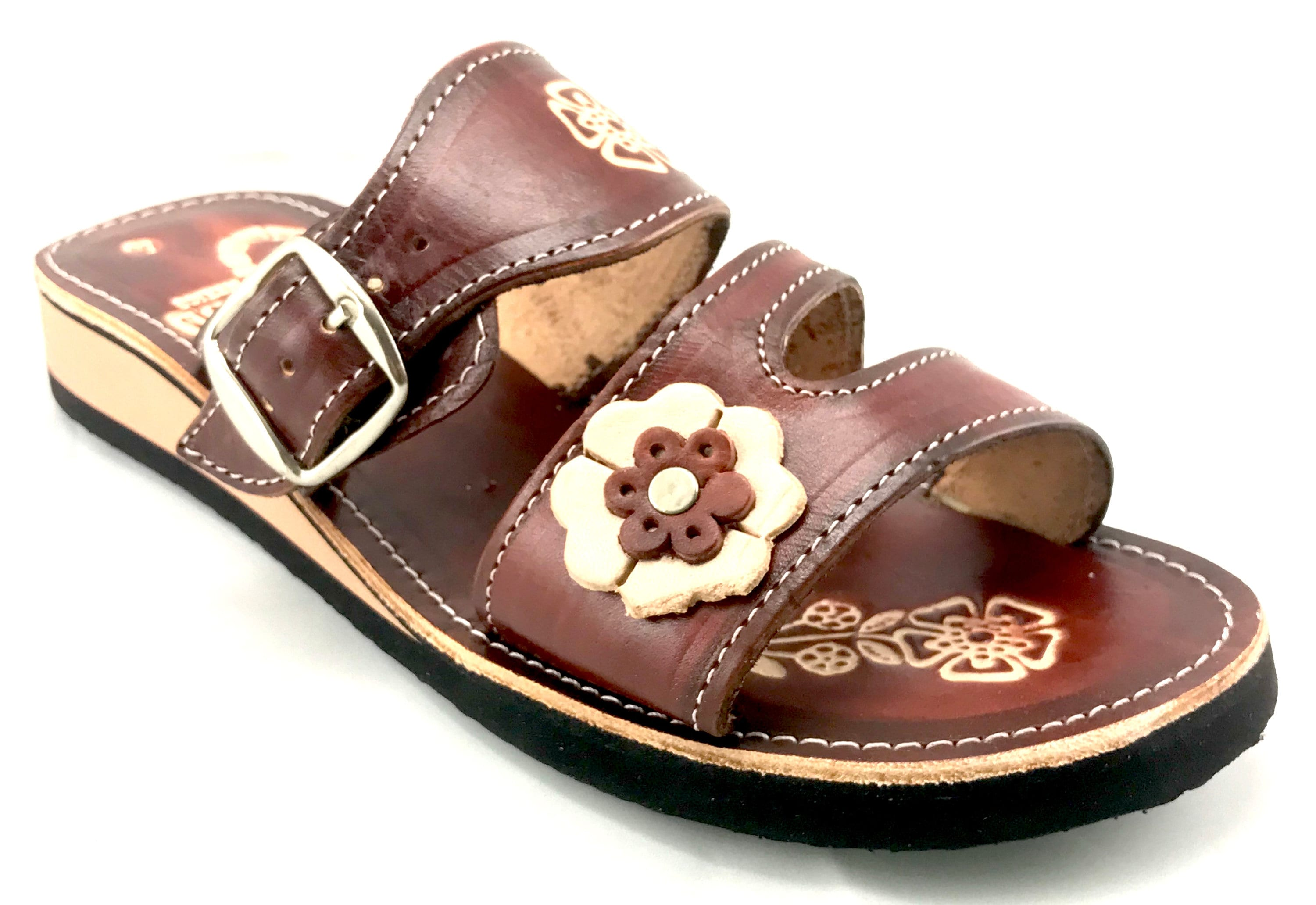 53d9d8be75b61 Womens Mexican Handmade Leather Huaraches Sandals Sandalias Piel Mujer  Mexicano Sahuayo Mexico BROCHE