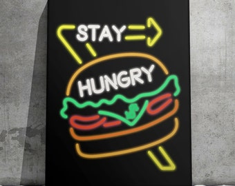 Canvas Wall Art- Stay Hungry  by IKONICK