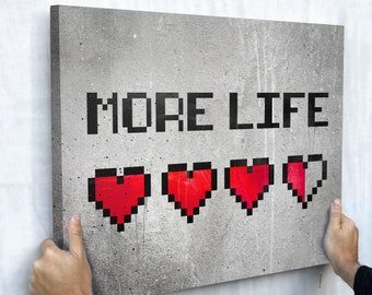 Canvas Wall Art- More Life  by IKONICK