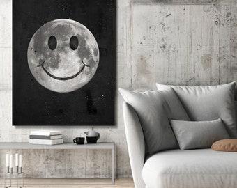IKONICK Happy Moon Canvas Art