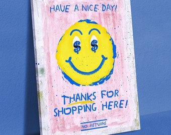 IKONICK Have a Nice Day Canvas Art