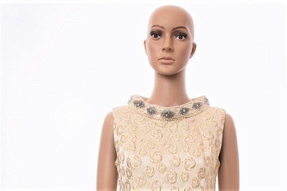 Vintage Cream Semi-Formal Dress