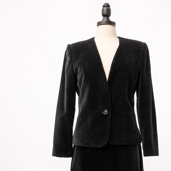 Vintage Koret Black Velvet Suit