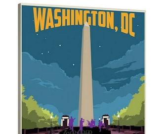 Washington DC Canvas Art -- Beautiful Wall Poster, Hometown, DMV, Quotes, Cute, Artsy, Contemporary, Classic, City, GoGo