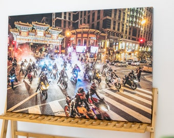 Motorcycle Canvas Art -- DC Motobomb Gallery Place