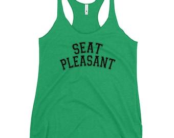 Seat Pleasant - Women's Racerback Tank - Black Text