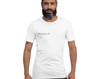 Southeast DC - Soft Short-Sleeve Unisex T-Shirt - Black Typeface
