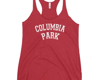 Columbia Park - Women's Racerback Tank - White Text