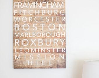 Custom Text Canvas Art -- Beautiful Wall Poster, Hometown, Music Lyrics, Quotes, Cute, Artsy, Contemporary, Classic, City, Housewarming