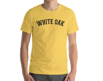 White Oak, Black Text Short-Sleeve Unisex T-Shirt