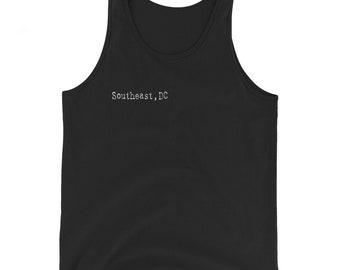 Southeast DC - Unisex Tank Top - White Typeface