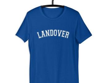Landover - White Text - Soft Short-Sleeve Unisex T-Shirt