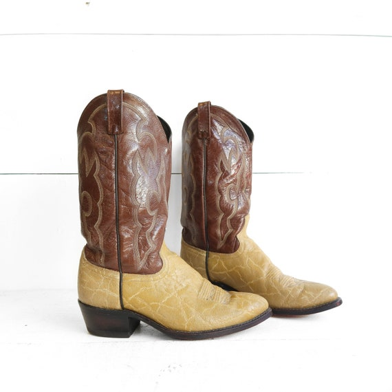 Vintage Dan Post Cowboy Boots Exotic Leather Boots