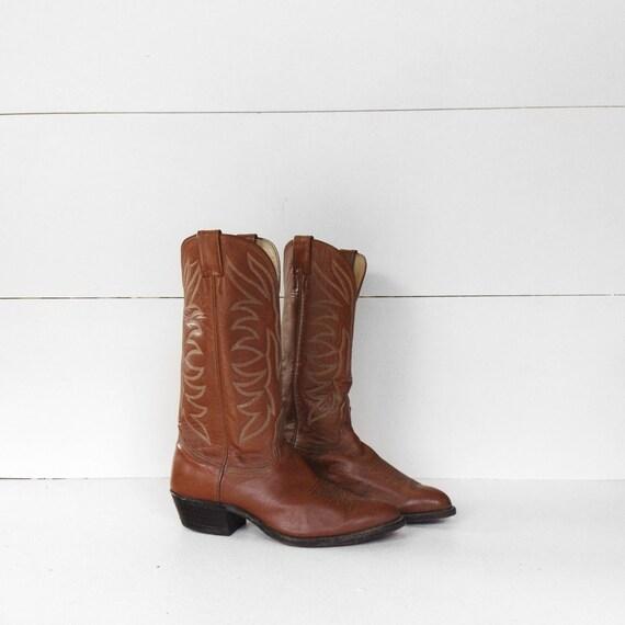 8 D | Men's Nocona Cowboy Boot Brown Leather Weste