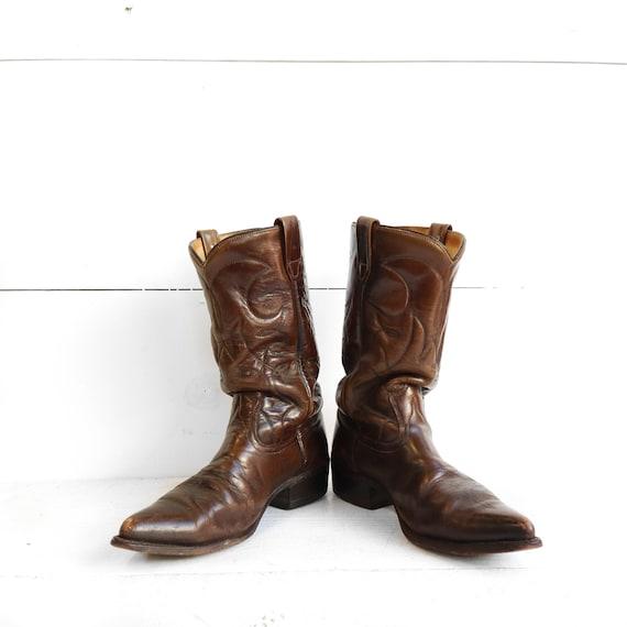 57 57 57 Cowboystiefel Westernstiefel Texas Stiefel Fransen