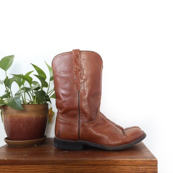 Distressed Vintage Lucchese Boots Roper Style West
