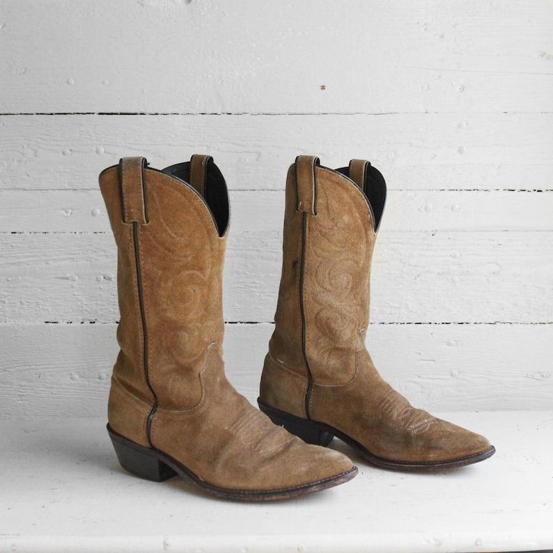 8c294c09edc 7.5 D | Men's Vintage Suede Cowboy Boots by Laredo