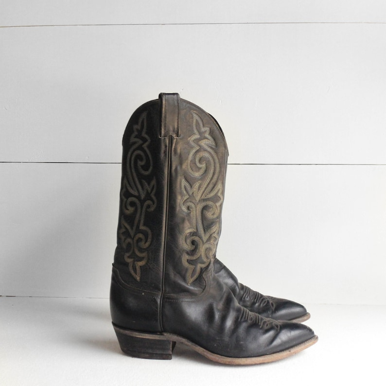 36253aef9c3 9 EE | Men's Justin Cowboy Boots Black Western Boots