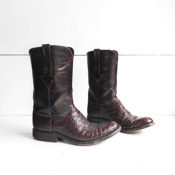9 D | Lucchese Cowboy Boots Exotic Texured Leather