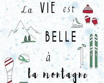Illustration Children's Room - Mountain - Holidays - Made in France