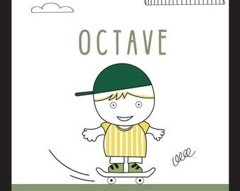 Children's Room Illustration - Skater