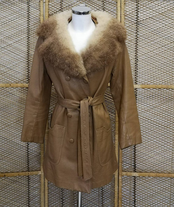 Original 1970's  Leather Penny Lane Jacket with Fu