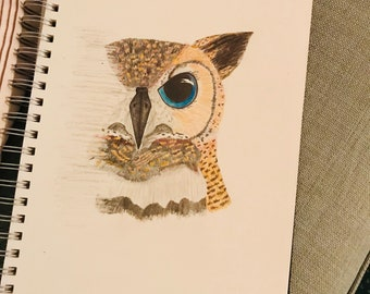Owl Eye Sketch Print