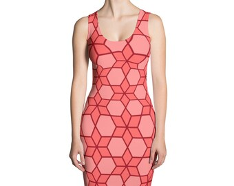 Pink Chainmail Pattern Sublimation Cut & Sew Dress