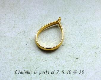 Open Teardrop with Knots Charm  Drop  Open Drop  Knot  Teardrop  24mm x 41mm  MMG-619-P Open Drop with Knots Pendant in Matte Gold
