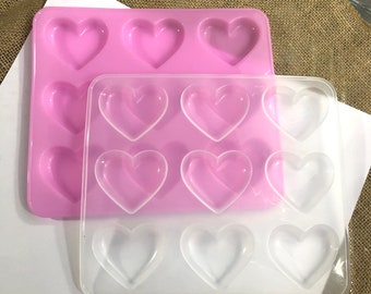 Grippie Heart with Etchings Silicone Mold