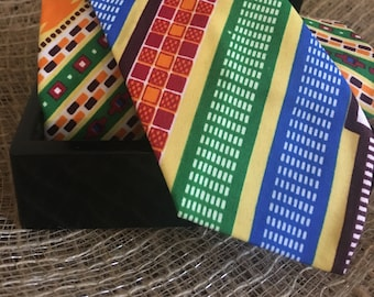 African Kente Neck Ties - One Size
