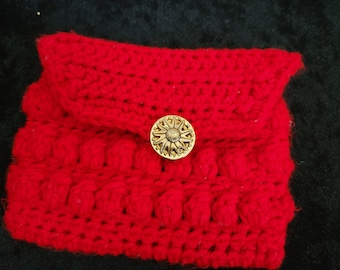 Red Bobble Pouch || CLEARANCE
