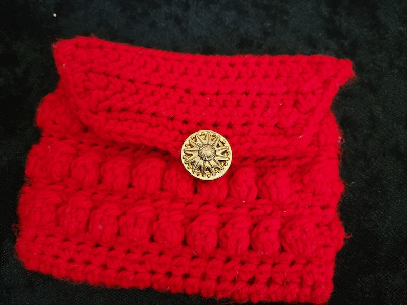 Red Bobble Pouch  CLEARANCE image 0