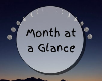 Month at a Glance || Tarot Reading
