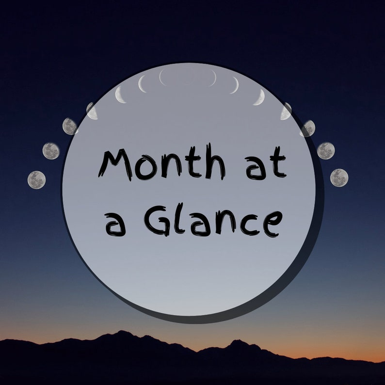 Month at a Glance  Tarot Reading image 0
