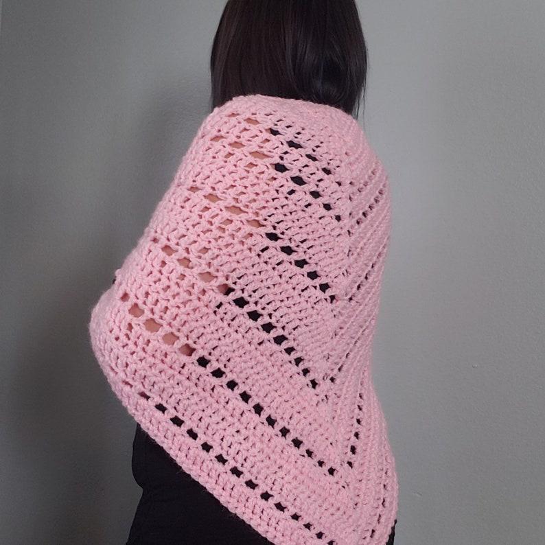 Baby Pink Crochet Shawl image 0