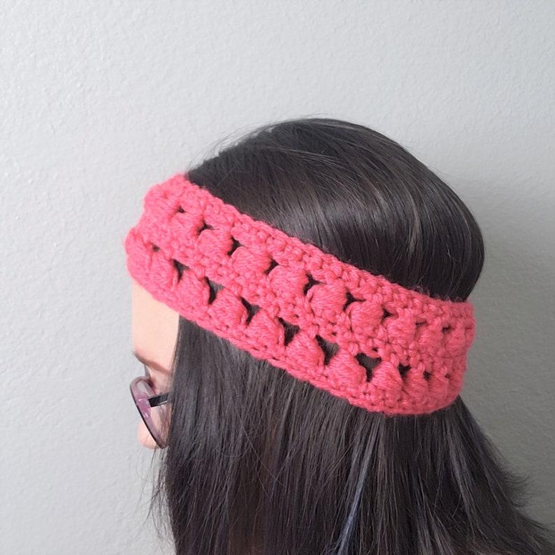 Bobbly Headband Coral