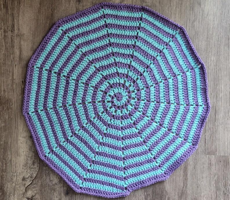 Sacred Spiral Altar Cloth Purple & Light Blue