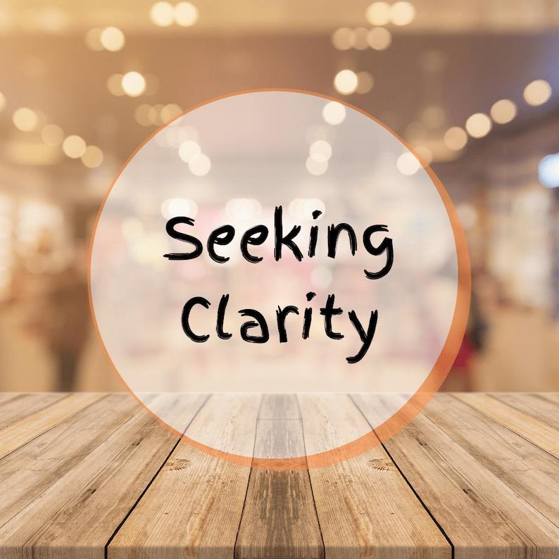 Seeking Clarity  Tarot Reading image 0